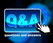 Q And A Means Frequently Asked Questions And Web — Stock Photo