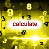 Calculate Counting Shows One Two Three And Calculation — Stock Photo