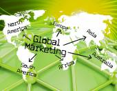 Global Marketing Shows Globalisation Sales And Earth — Stock Photo