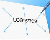 Logistics Distribution Shows Supply Chain And Delivery — ストック写真