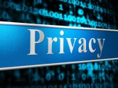 Private Privacy Indicates Secrecy Advertisement And Forbidden — Stock Photo