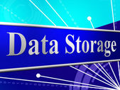 Data Storage Means Hard Drive And Archive — Stock Photo