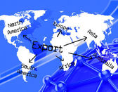 Export Worldwide Indicates Trading Exporting And Exported — Stock Photo