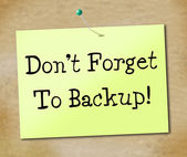 Backup Data Shows File Transfer And Archives — Stock Photo