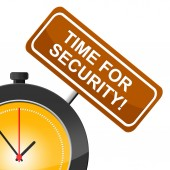 Time For Security Means Protect Private And Protected — Stock Photo