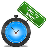 Time To Save Shows Increase Savings And Finances — Stock Photo