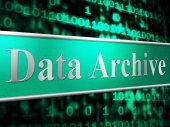 Data Archive Means File Transfer And Backup — Stock Photo