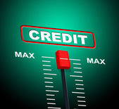 Max Credit Means Debit Card And Bankcard — Stock Photo
