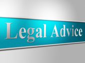 Legal Advice Indicates Support Criminal And Assist — Stock Photo