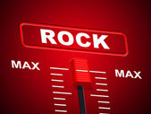 Rock And Roll Represents Soundtrack Melody And Audio — Stock Photo