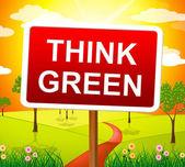 Acho que o conceito e mostra verde eco amigável — Fotografia Stock