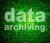 Data Archiving Shows Library Catalog And Backup — Stock Photo