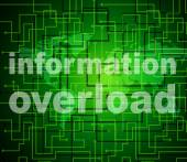 Overload Information Shows Overloaded Fact And Answers — Stock Photo