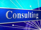 Consult Consulting Means Seek Advice And Confer — ストック写真