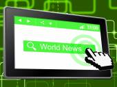 World News Shows Web Site And Headlines — Stock Photo