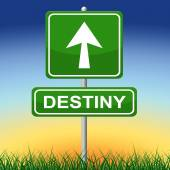 Destiny Sign Means Future Pointing And Arrows — Stock Photo