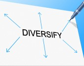 Diversity Diversify Represents Mixed Bag And Multi-Cultural — Stock Photo