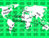 Global Business Indicates Globalize Commerce And Globe — Stock Photo