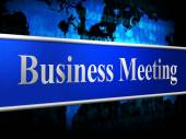Meetings Business Indicates Convene Conference And Commerce — 图库照片