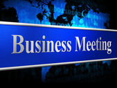 Meetings Business Indicates Convene Conference And Commerce — Foto Stock