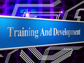 Training And Development Represents Learning Buildout And Webinar — Stock Photo