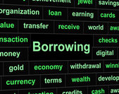 Borrow Debt Shows Arrears Finance And Liability — Foto Stock