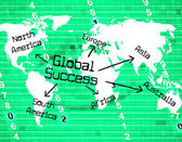Global Success Means Victors Globalise And Resolution — Stock Photo
