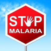 Stop Malaria Means Warning Control And Mosquitoes — Stock Photo