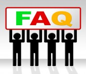 Frequently Asked Questions Shows Asking Info And Faq — ストック写真