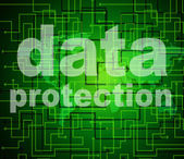 Data Protection Shows Knowledge Protected And Secured — Stock Photo