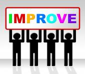 Improve Improvement Indicates Growth Development And Advancing — Stock Photo