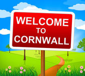 Welcome To Cornwall Means United Kingdom And Britain — Stock Photo