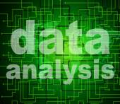 Data Analysis Means Analyse Bytes And Investigate — Stock Photo