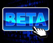 Beta Button Means World Wide Web And Versions — Stock Photo