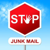 Stop Junk Mail Represents E-Mail Control And Spam — Stock Photo