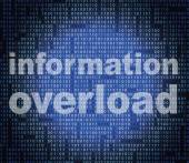 Overload Information Shows Encumber Bytes And Overloading — Stock Photo