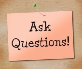 Ask Questions Means Faqs Information And Assistance — Stock Photo