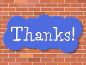 Sign Thanks Means Thankful You And Appreciate — Stock Photo