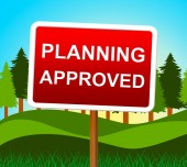 Planning Approved Means Plans Assurance And Verified — Stock Photo