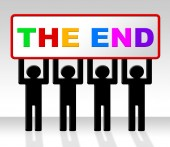 The End Represents Final Finale And Conclusion — Stock Photo