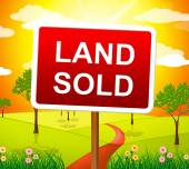 Land Sold Indicates Real Estate Agent And Building — Stock Photo