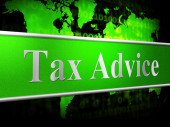 Tax Advice Means Info Answer And Helping — Stock Photo