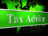 Tax Advice Means Info Answer And Helping — Stok fotoğraf