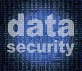 Data Security Means Secure Facts And Bytes — Stock Photo