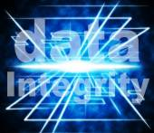 Data Integrity Represents Uprightness Sincerity And Virtuous — Stock Photo