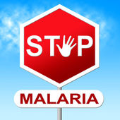 Stop Malaria Indicates Warning Sign And Caution — Stock Photo