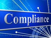 Compliance Agreement Shows Complied Guidelines And Process — Stock Photo