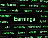 Revenue Earnings Means Wages Revenues And Salary — Stock Photo