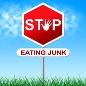 Stop Eating Junk Indicates Fast Food And Control — Stock Photo