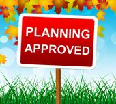 Planning Approved Means Missions Assured And Goals — Stock Photo